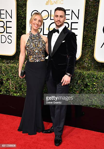 Director Sam TaylorJohnson and actor Aaron TaylorJohnson attend the 74th Annual Golden Globe Awards at The Beverly Hilton Hotel on January 8 2017 in...