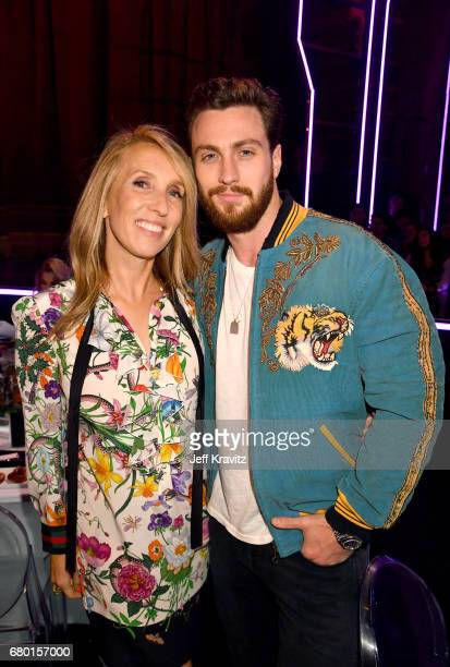 Director Sam TaylorJohnson and actor Aaron TaylorJohnson attend the 2017 MTV Movie And TV Awards at The Shrine Auditorium on May 7 2017 in Los...