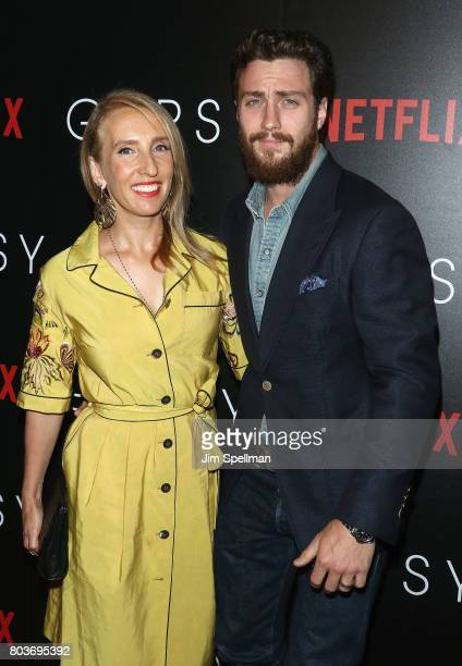 Director Sam TaylorJohnson and actor Aaron TaylorJohnson attend the special screening of 'Gypsy' hosted by Netflix at Public Arts at Public on June...