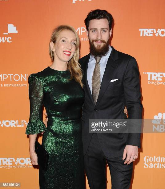 Director Sam TaylorJohnson and actor Aaron TaylorJohnson attend The Trevor Project's 2017 TrevorLIVE LA at The Beverly Hilton Hotel on December 3...