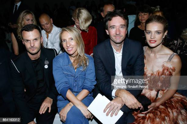 Director Sam TaylorJohnson General manager of Berluti Antoine Arnault and Natalia Vodianova attend the Christian Dior show as part of the Paris...