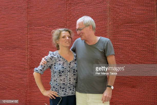 Director Sandra Nettelbeck and actor August Zirner attend the 'Was Uns Nicht Umbringt' during the 71st Locarno Film Festival on August 3 2018 in...
