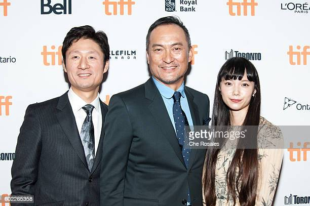 Director Sangil Lee Actor Ken Watanabe and Actress Aoi Miyazaki attend the premiere of 'Rage' during the 2016 Toronto International Film Festival at...