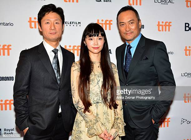 Director Sangil Lee Actress Aoi Miyazaki and Actor Ken Watanabe attend the premiere of 'Rage' during the 2016 Toronto International Film Festival at...