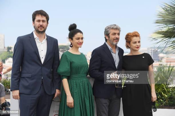 Director Santiago Mitre Erica Rivas Ricardo Darin and Dolores Fonzi attend the La Cordillera El Presidente photocall during the 70th annual Cannes...