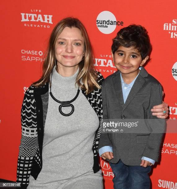 Director Sara Colangelo and actor Parker Sevak attend the 'The Kindergarten Teacher' Premiere during the 2018 Sundance Film Festival at Park City...