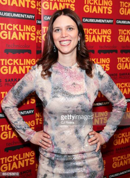 Director Sara Taksler attends 'Tickling Giants' New York premiere at IFC Center on March 16 2017 in New York City