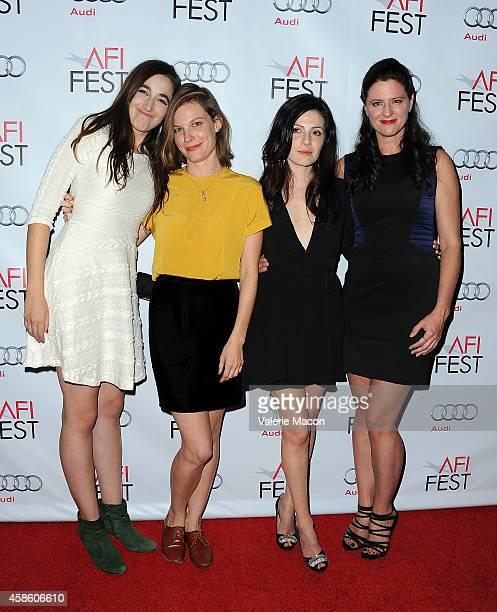 Director Sarah Adina Smith actors Lindsay Burdge Aleksa Palladino and Jennifer Lafleur attend the screening of 'The Tribe' 'The Midnight Swim' 'Eden'...