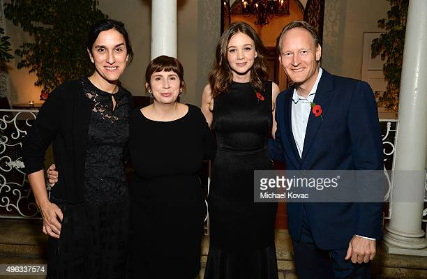 Director Sarah Gavron writer Abi Morgan actress Carey Mulligan and British Consul General Chris O'Connor attend the Focus Features reception for...