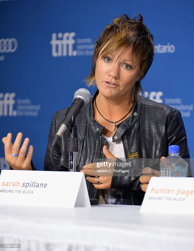Director Sarah Spillane of 'Around the Block' speaks onstage at First Peoples Cinema Press Conference during the 2013 Toronto International Film Festival at TIFF Bell Lightbox on September 6, 2013 in Toronto, Canada.