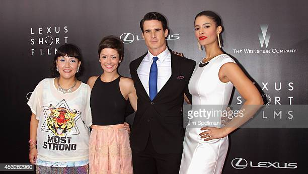Director Satsuki Okawa actors Phoebe Neidhardt Nick Ballard and Jessica Clark attend the 'Life is Amazing' Lexus Short Films Series at SVA Theater on...