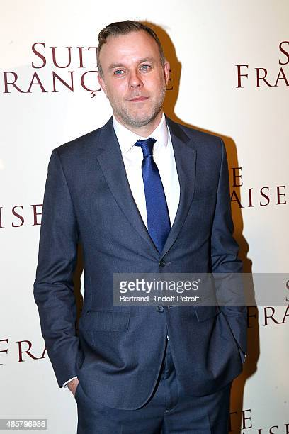 Director Saul Dibb attends the world premiere of 'Suite Francaise' at Cinema UGC Normandie on March 10 2015 in Paris France