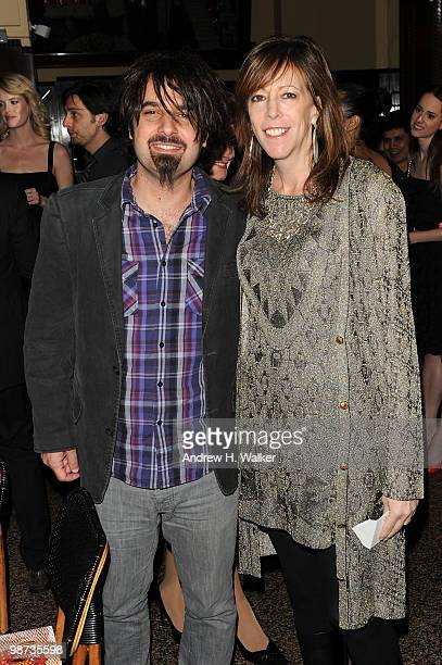 Director Scandar Copti and Tribeca Film Festival cofounder Jane Rosenthal attend the CHANEL Tribeca Film Festival Dinner in support of the Tribeca...