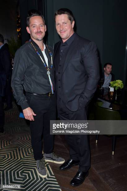 Director Scott Cooper and actor Christian Bale attend the Diageo World Class Canada and Audi 'Hostiles' premiere party during the 2017 Toronto...