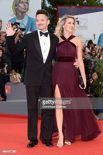 Director Scott Cooper and Jocelyne Cooper attend a premiere for 'Black Mass' during the 72nd Venice Film Festival at on September 4 2015 in Venice...