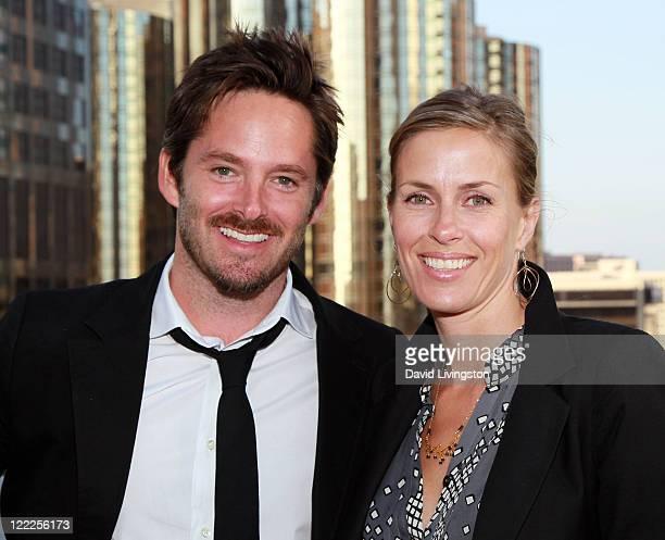 Director Scott Cooper and Jocelyne Cooper attend the Filmmaker Reception during the 2010 Los Angeles Film Festival at The Standard Hotel on June 21...