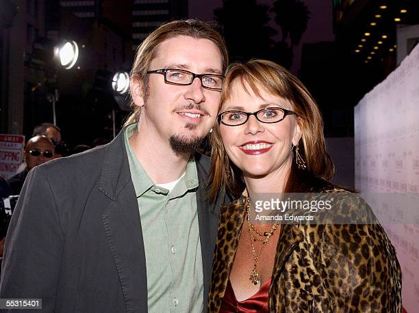 Director Scott Derrickson and his wife Joyce Derrickson attend The Exorcism of Emily Rose premiere at the Cinerama Dome on September 7 2005 in...