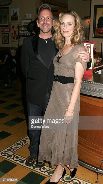Director Scott Elliott and Actress Lisa Emery attend the after-party for their Off-Broadway revival of The Prime Of Miss Jean Brodie at Pigalle's...