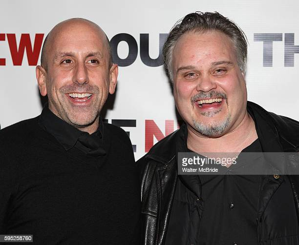 "Director Scott Elliott & Playwright Tommy Nohilly attending the Celebration Party for The New Group World Premiere Production of ""Blood From A Stone""..."