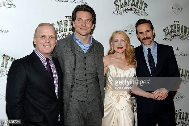 Director Scott Ellis with actors Bradley Cooper Patricia Clarkson and Alessandro Nivola attend The Elephant Man Broadway Opening Night After Party at...