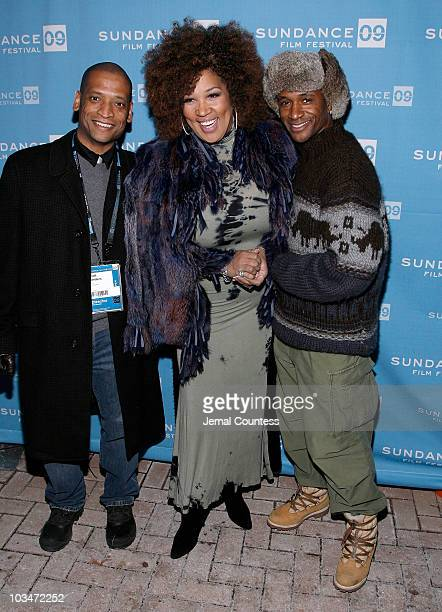 Director Scott Sanders actress Miss Kitty and actor Tommy Davidson attend the premiere of Black Dynamite during the 2009 Sundance Film Festival at...