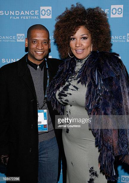 Director Scott Sanders and actress Miss Kitty attend the premiere of Black Dynamite during the 2009 Sundance Film Festival at Library Center Theatre...