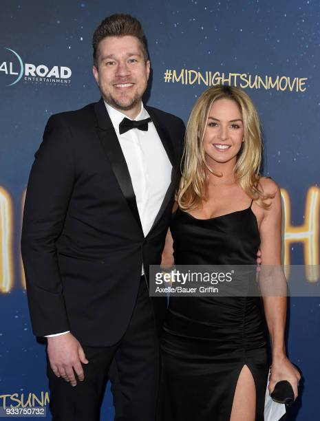 Director Scott Speer and wife Michelle McLaughlin attend Global Road Entertainment's world premiere of 'Midnight Sun' at ArcLight Hollywood on March...