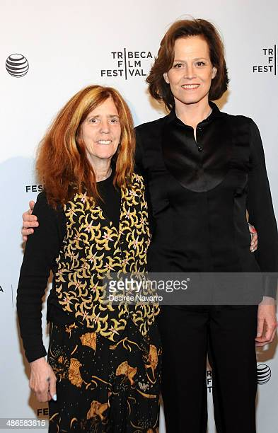 Director/ screenwriter Elizabeth Swados and actress Sigourney Weaver attend the Shorts Program City Limits during the 2014 Tribeca Film Festival at...