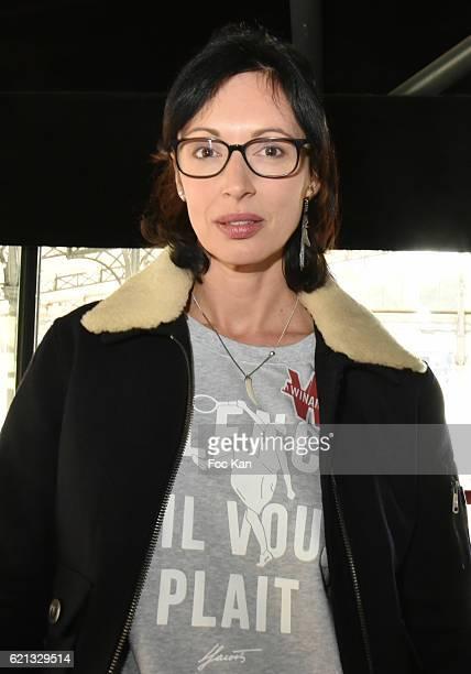Director screenwriter Geraldine Maillet attends the Winamax Poker Tour 20162017 at Grande Halle de la Villette Day One on November 5 2016 in Paris...