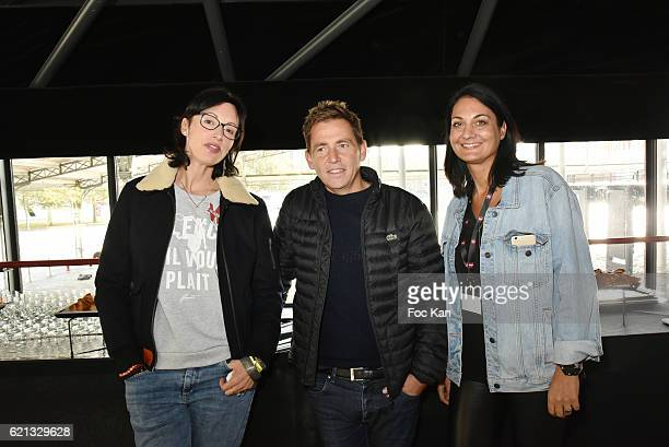 Director screenwriter Geraldine Maillet journalist Daniel Riolo and former swimmer Sophie Kamoun attend the Winamax Poker Tour 20162017 at Grande...