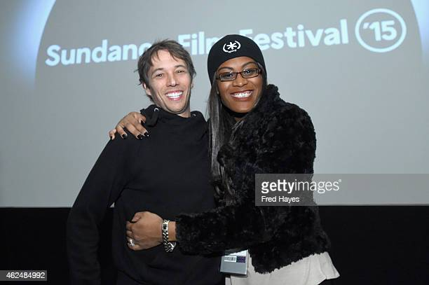 Director Sean Baker and actress Mya Taylor attend the Tangerine screening Q A during the 2015 Sundance Film Festival on January 29 2015 in Park City...
