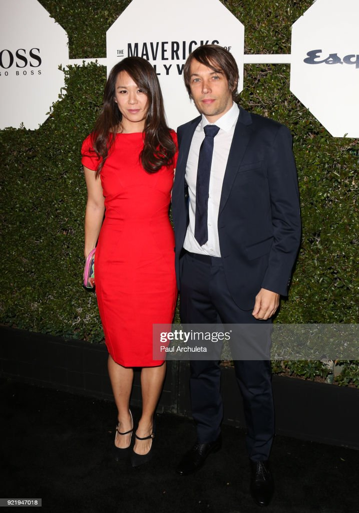 Director Sean Baker (L) and Samantha Kwan (R) attend Esquire's annual 'Maverick's Of Hollywood' event at Sunset Tower on February 20, 2018 in Los Angeles, California.