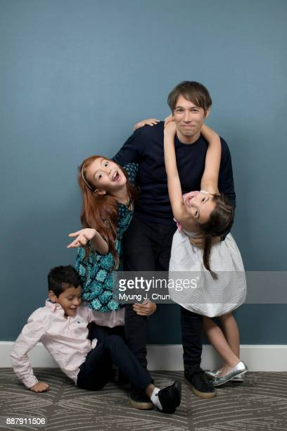 Director Sean Baker of The Florida Project and actors Christopher Rivera left Valeria Cotto and Brooklynn Prince are photographed for Los Angeles...