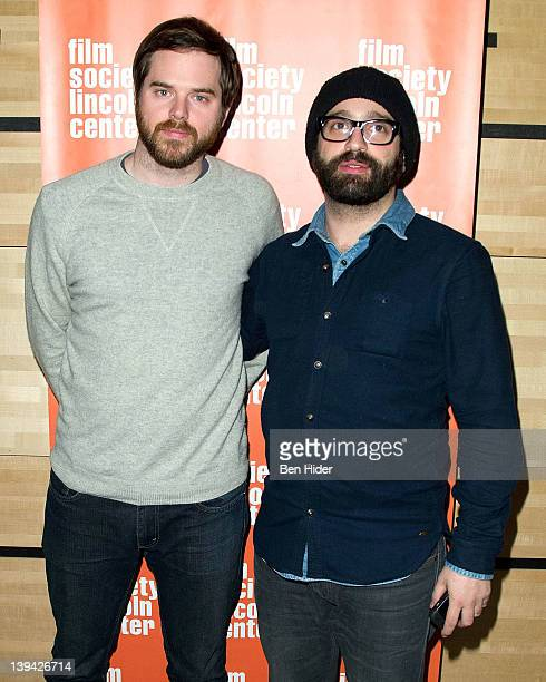 Director Sean Durkin and Producer Antonio Campos attend Mary Last Seen Film Society of Lincoln Center screening QA at the Film Center Amphitheater in...