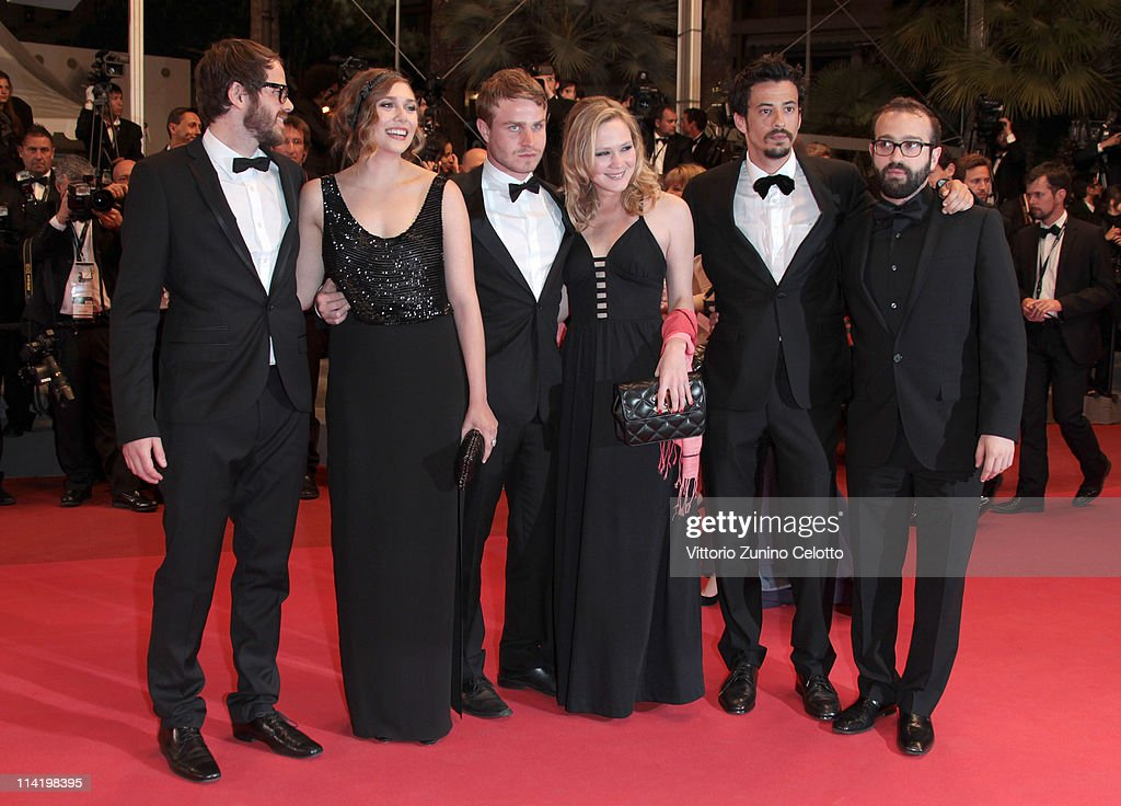 Director Sean Durkin, Elizabeth Olsen, Brady Corbet, Louisa Krause, producer Josh Mond and producer Antonio Campos attend the 'Martha Marcy May Marlene' premiere during the 64th Cannes Film Festival at the Palais des Festivals on May 15, 2011 in Cannes, France.