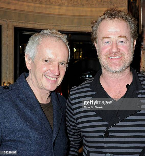 Director Sean Mathias and actor Owen Teale attend an after party following the Press Night performance of 'The RoundHeeled Woman' at The Aldwych...