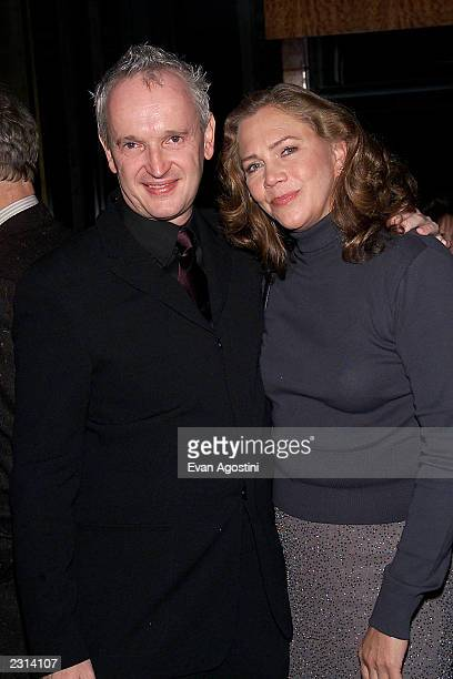 Director Sean Mathias and Kathleen Turner at the opening night party for Dance Of Death at the Bryant Park Grill in New york City Photo Evan...