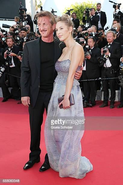 Director Sean Penn and Dylan Penn attend 'The Last Face' Premiere during the 69th annual Cannes Film Festival at the Palais des Festivals on May 20...