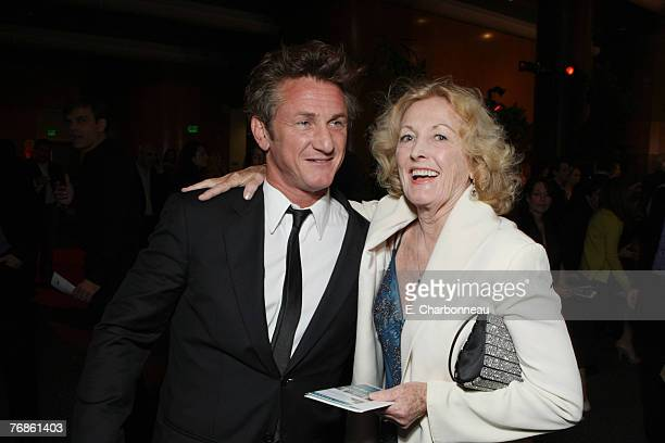 Director Sean Penn and Eileen Ryan at the Los Angeles Premiere of Paramount Vantage Into The Wild at the Director's Guild of America on September 18...
