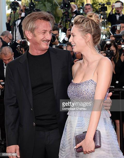 Director Sean Penn and his daughter Dylan Penn attend 'The Last Face' Premiere during the 69th annual Cannes Film Festival at the Palais des...