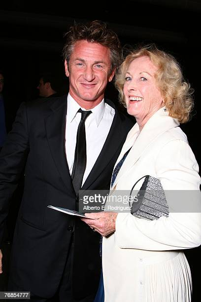 Director Sean Penn and mother Eileen Ryan arrive at the Los Angeles premiere of Paramount Vantage's Into the Wild held at the Director's Guild of...