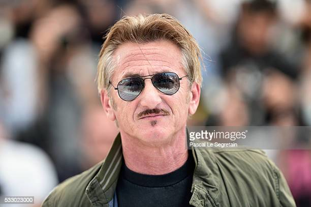 """Director Sean Penn attends """"The Last Face"""" Photocall during the 69th annual Cannes Film Festival at the Palais des Festivals on May 20, 2016 in..."""