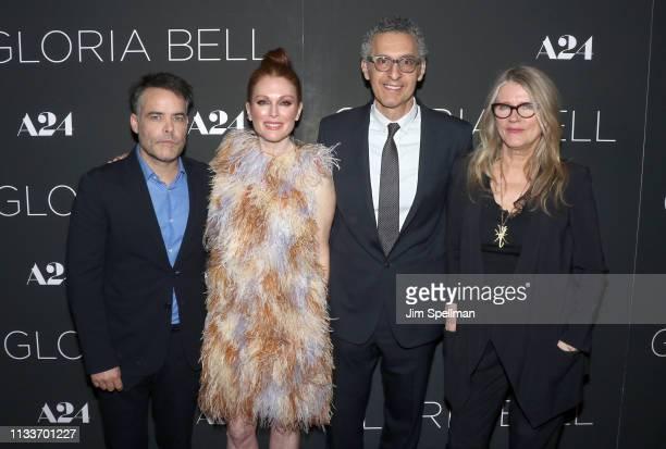 Director Sebastian Lelio actors Julianne Moore John Turturro and Barbara Sukowa attend the 'Gloria Bell' New York screening at Museum of Modern Art...