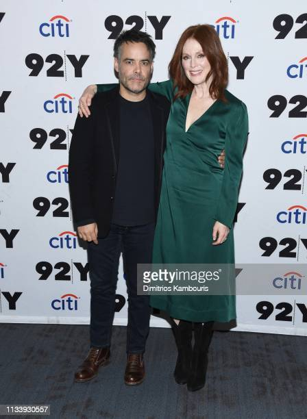 Director Sebastian Lelio and Julianne Moore attend 'Gloria Bell' Screening Conversation at 92nd Street Y on March 05 2019 in New York City