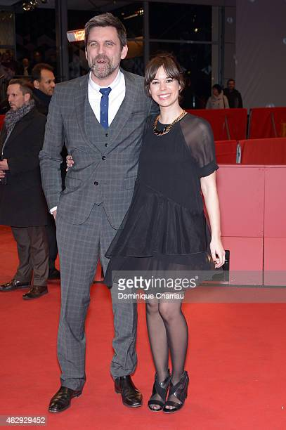 Director Sebastian Schipper and actress Laia Costa attend the 'Victoria' premiere during the 65th Berlinale International Film Festival at Berlinale...