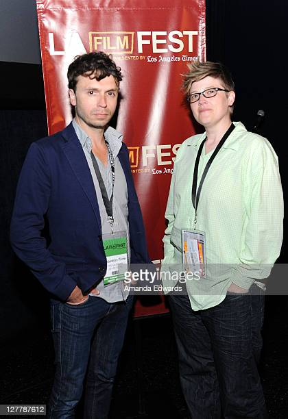"""Director Sebastien Pilote and Program Manager Jenn Wilson attend the """"The Salesman"""" Q & A during the 2011 Los Angeles Film Festival at Regal Cinemas..."""