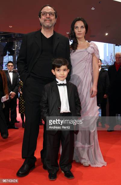 Director Semih Kaplanoglu actress Tuelin Oezen and actor Bora Altas attend the 'Bal' Premiere during day six of the 60th Berlin International Film...