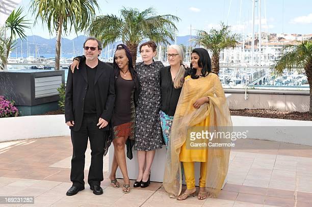 Director Semih Kaplanoglu, director Maji-da Abdi, actress Nicoletta Brasch, director Jane Campion and actress Nandita Das attend the 'Jury...