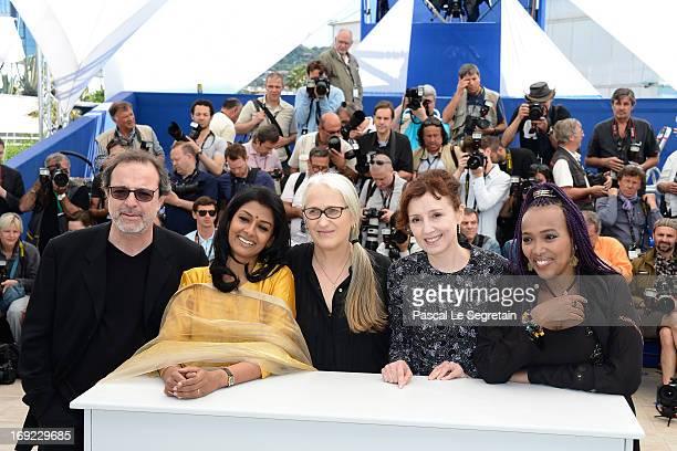 Director Semih Kaplanoglu,a ctress Nandita Das, Director Jane Campion actress Nicoletta Braschi and director Maji-da Abdi attends the 'Jury...