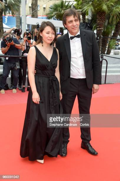 Director Sergei Dvortsevoy and actress Samal Yeslyamova attend the screening of Ayka during the 71st annual Cannes Film Festival at Palais des...
